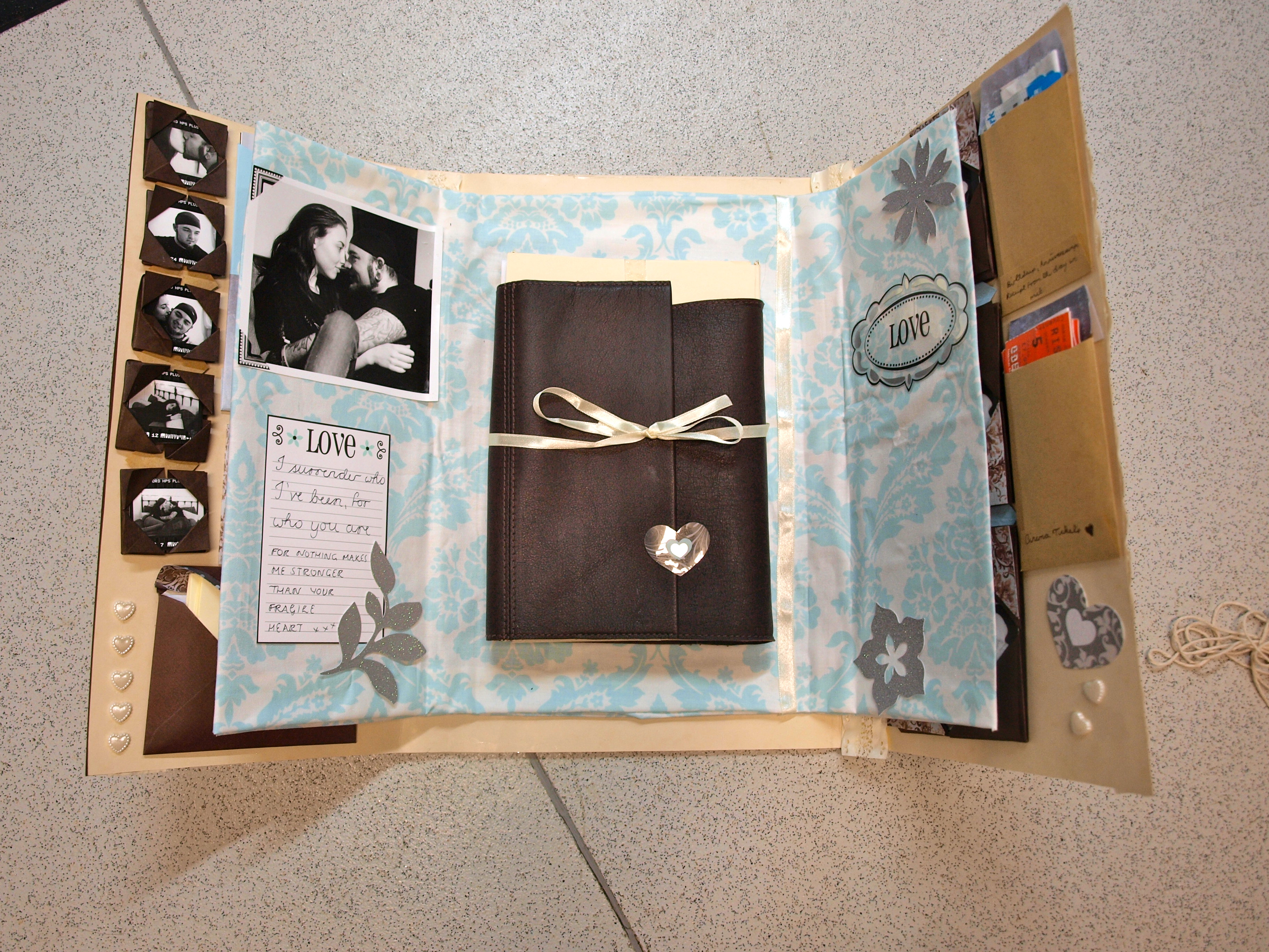 How to make a scrapbook for your boyfriend