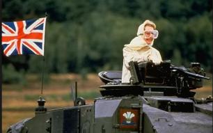 Thatcher leads Britain into War
