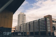 Sherbourne Arcade Car Park (2002) and Mercia House (1965) Queen Victoria Road