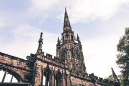 The 14th century Gothic structure of St Michael's Spire