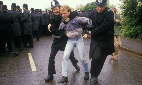 Rioter in the 1980s