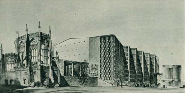 Sir Basil Spence's original sketch of the New Cathedral
