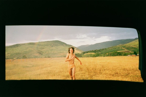 "Ryan McGinley ""Coley Running Rainbow"""