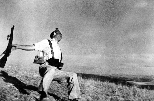 Falling Soldier By Robert Capa
