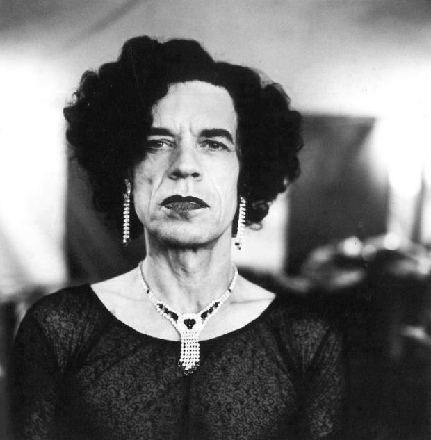 Mick Jagger in Drag