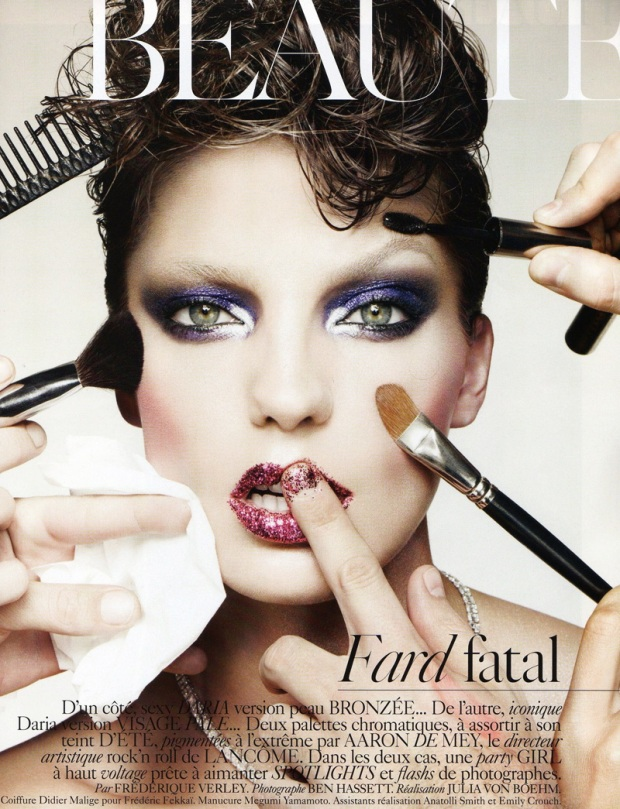 daria werbowy makeup model vogue