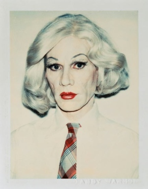 Self-portrait as Andy Warhol in drag