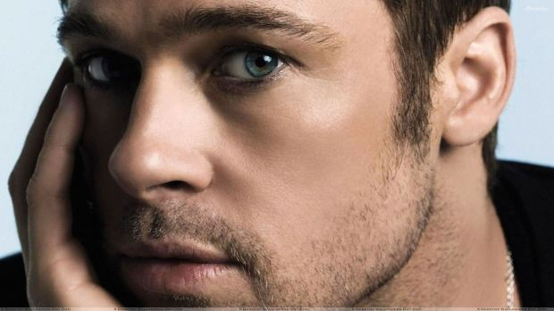 Brad Pitt Ultra Face Closeup Photoshoot