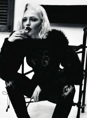 Sasha Pivovarova by Mert and Marcus Vogue Paris 2011