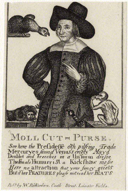 Mary Frith aka Moll Cut Purse