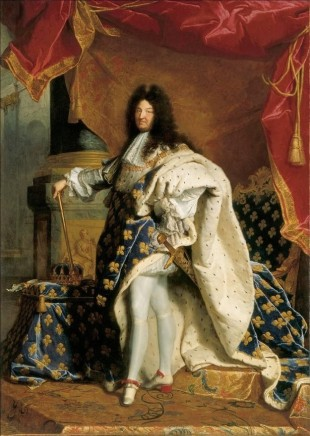 Louis XIV in red heeled shoes 1701